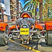 Harley Trike Art Print