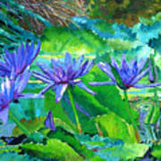 Harmony of Purple and Green Art Print