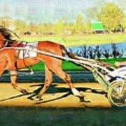 Harness Racer Art Print
