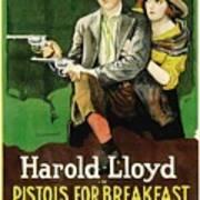 Harold Lloyd In Pistols For Breakfast 1919 Art Print