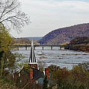 Harpers Ferry - Shenandoah Meets The Potomac Art Print