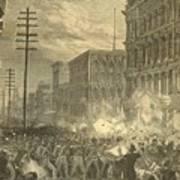 Harpers Sixth Regiment Fighting Railroad Strikers Art Print