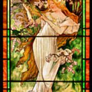 Harpist Art Print