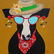 Harriet Honeybee Holstein Art Print