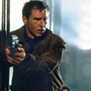 Harrison Ford As Rick Deckard A Blade Runner  In Blade Runner 1982 Art Print