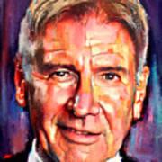 Harrison Ford Indiana Jones Portrait 2 Art Print