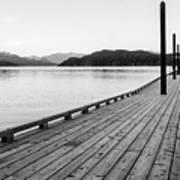 Harrison Lake Pier, Bc Art Print