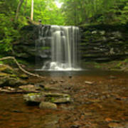 Harrison Wrights Falls In The Forest Art Print