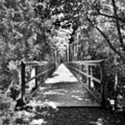 Harry Easterling Bridge Peak Sc Black And White Art Print