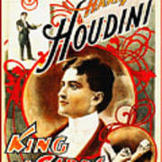 Harry Houdini - King Of Cards Art Print