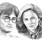 Harry Potter And Hermione Art Print
