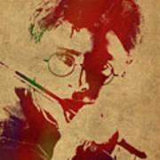 Harry Potter Watercolor Portrait Art Print