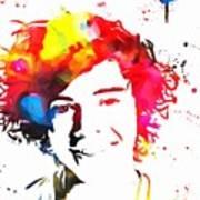 Harry Styles Paint Splatter Art Print