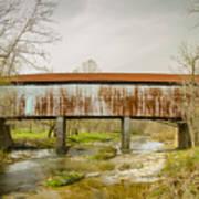 Harshaville Covered Bridge  Art Print
