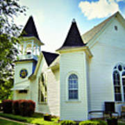 Hartsburg Baptist Church Art Print