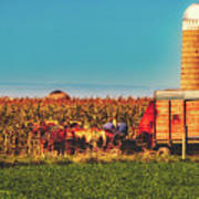 Harvest In Amish Country - Elkhart County, Indiana Art Print