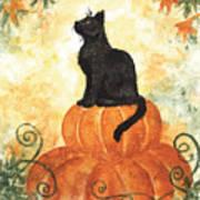 Harvest Kitty Art Print