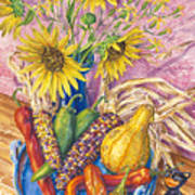 Harvest Meow Art Print