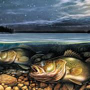 Harvest Moon Walleye 1 Art Print by JQ Licensing