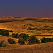 Harvested Fields Art Print