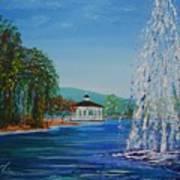 Harveston Lake Fountain Art Print