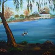 Harveston Lake Geese Art Print