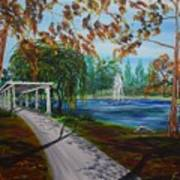 Harveston Lake Path Art Print