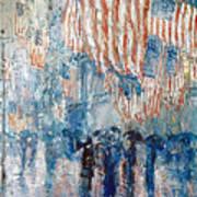 Hassam Avenue In The Rain Art Print by Granger
