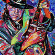 Hat And Guitar Print by Debra Hurd