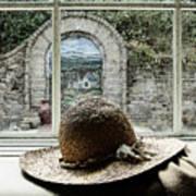 Hat In Window Art Print