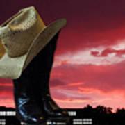 Hat N Boots 11 Art Print
