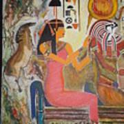 Hathor And Horus Print by Prasenjit Dhar
