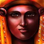 Hathor- The Goddess Art Print by Carmen Cordova