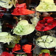 Hats In A Window Art Print