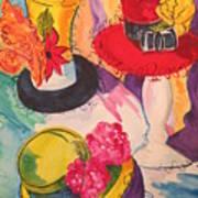 Hats on Parade Art Print