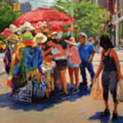 Hats, Scarves And Sunlight On Broadway Art Print