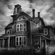 Haunted - Flemington Nj - Spooky Town Art Print
