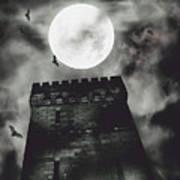 Haunted Dark Castle Art Print