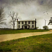 Haunted House On A Hill Art Print