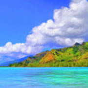 Hauru Point Moorea Art Print