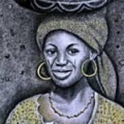 Hausa Maiden  Art Print