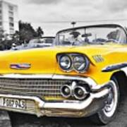 Havana Chevy Dreams  Art Print