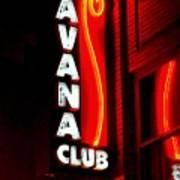 Havana Club At Night Art Print