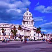 Havana National Capitol Art Print