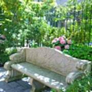 Have A Seat In My Secret Garden. #patio Art Print