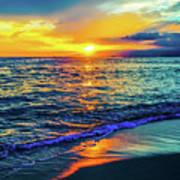 Hawaii Beach Sunset 149 Art Print