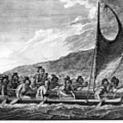Hawaii: Canoe, 1779 Art Print