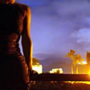 Hawaii Nights Self Portrait Art Print