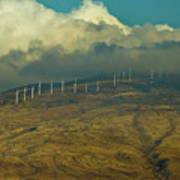 Hawaii Windmills On Maui One Art Print