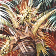 Hawaiian Fireworks Art Print